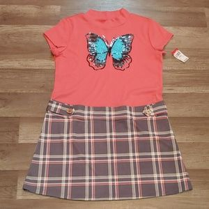 Turtleneck/mock butterfly dress size xl